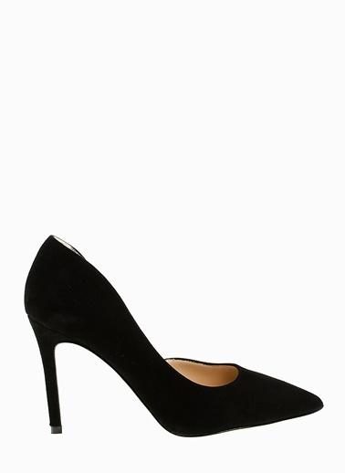 Divarese %100 Deri İnce Topuklu Ayakkabı Siyah